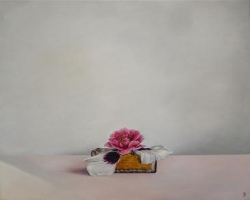 """Beneath The Flowers"" Oil on canvas 85 x 75 cm"