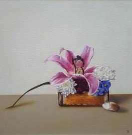 """""""Growth"""" Oil on canvas 40 x 40 cm"""