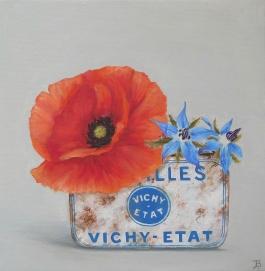 """Poppy, Cornflowers"" Oil on canvas 20 x 20 cm"