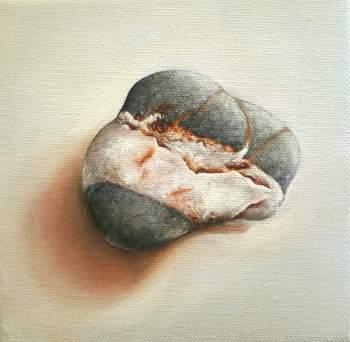 """""""Simplicity"""" Oil on canvas 15 x 15 cm"""