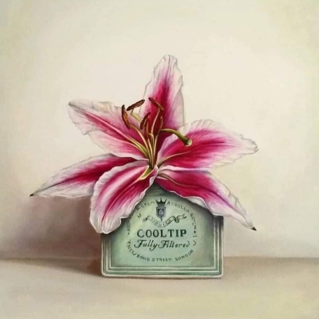 """Cooltips, Lily"" Oil on canvas 30 x 30 cm"